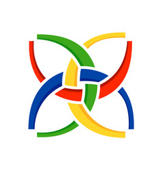 Unity in harmony symbol design vector