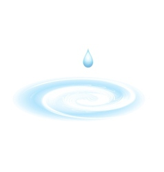 Water drop isolated on white vector image