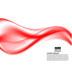 wave red transparent abstract on white background vector image