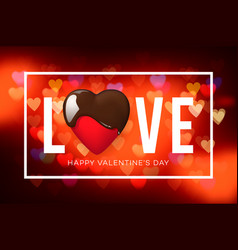web banner for valentines day top view on vector image