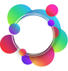 White round background with colour circles vector