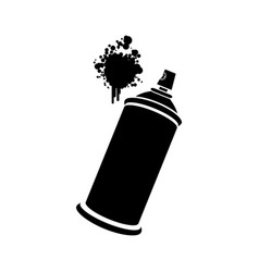 aerosol sprays with a stain icon vector image vector image