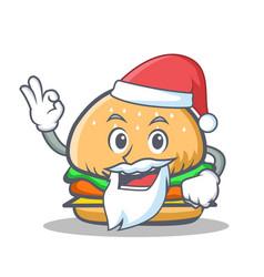 santa burger character fast food vector image vector image