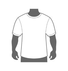 Blank T-shirt Men Body Silhouette vector image