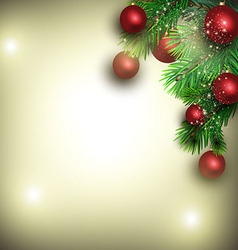 Christmas background from fir branches vector image