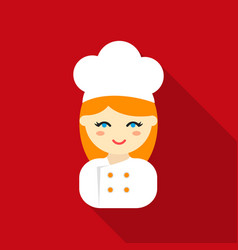 cook flat icon for web and mobile vector image vector image