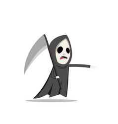 grim reaper with scythe in flat style vector image