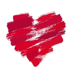 Painted Heart from Brush Strokes vector image vector image
