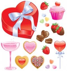 valentine treats vector image vector image