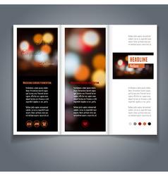 Broshure template vector image vector image