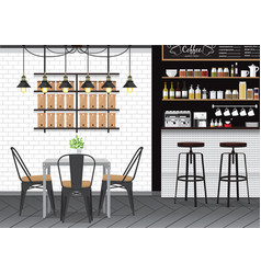 cafe interior vector image vector image