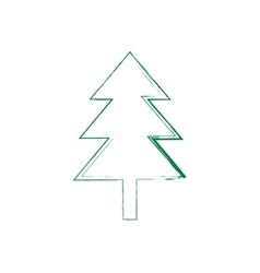 Christmas tree grunge silhouette vector image vector image
