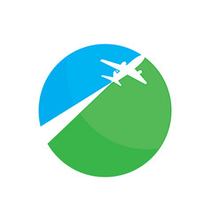 circle plane shape vector image