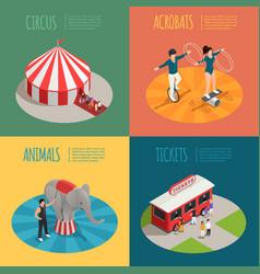 circus isometric 2x2 design concept vector image