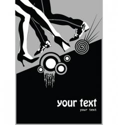 dancing poster vector image vector image