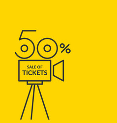 linear poster sale of tickets graphics vector image