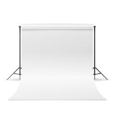 white photo studio empty white canvas vector image