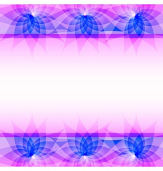 Abstract purple background with flowers vector image