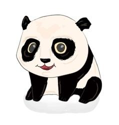 Cute panda Panda baby vector image vector image