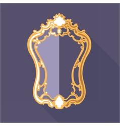 Digital golden and purple vintage mirror vector image