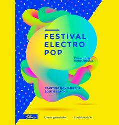 festival electro pop vector image vector image