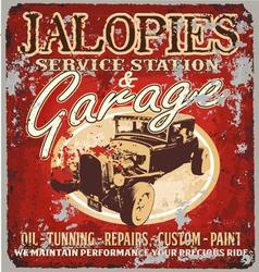 jalopy garage vector image