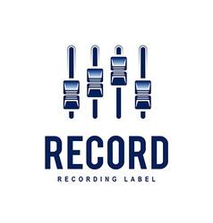 Record Logo vector image vector image