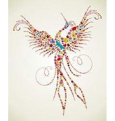 Spring Pheonix bird texture vector image