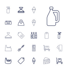 22 product icons vector