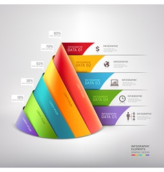 3d cone business infographics diagram vector