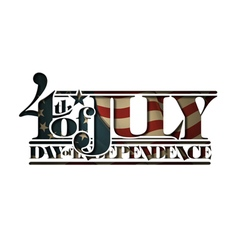 4th july cut out day independence vector