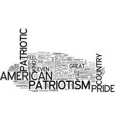 A new kind patriotism text word cloud concept vector