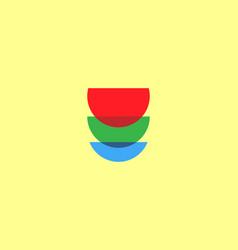 abstract 3-cup tower logo design concept creative vector image