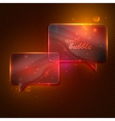 Abstract background with glass transparent speech vector