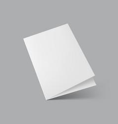 Blank half fold brochure template for presentation vector