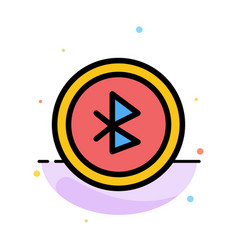 Bluetooth ui user interface abstract flat color vector