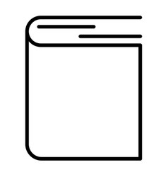 book - outline icon black pictogram isolated on a vector image