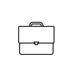 briefcase icon design template isolated vector image