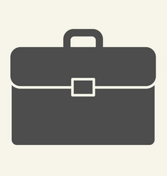 briefcase solid icon bag vector image