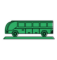 Bus sideview icon image vector