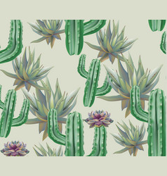Cactus pattern texture modern backgrounds vector