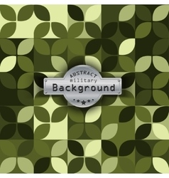 Camouflage military pattern with petals background vector