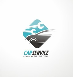 Car abstract logo design concept vector image
