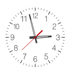 Clock face isolated on white vector
