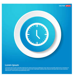 clock icon abstract blue web sticker button vector image