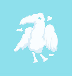 Cloud in bizarre shape eagle isolated on blue vector