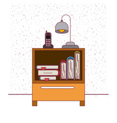 Color background with sparkles nightstand with vector