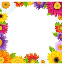 Colorful Gerbers Flower Frame vector