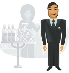 corporate party vector image