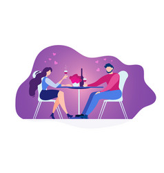 couple in love dining in restaurant flat vector image